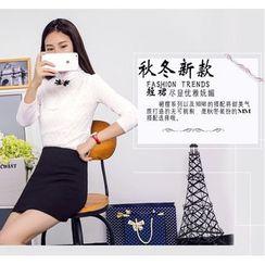 潞依韩 - 纯色短裙