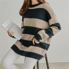PIPPIN - Striped Wool Blend Knit Top