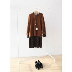 J-ANN - Inset Sweater Dress