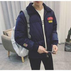 Bestrooy - Fleece Collar Padded Jacket