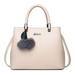 BeiBaoBao - Pompom-Accent Tote