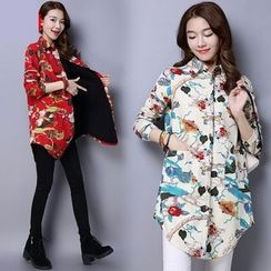 Diosa - Floral Print Long Shirt