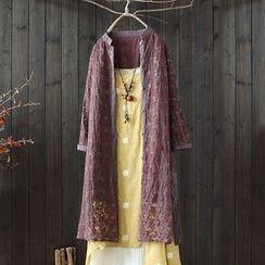 SASKIS - Lace Panel Long Jacket