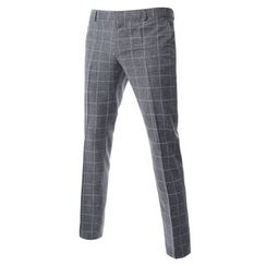 TheLees - Check-Pattern Dress Pants