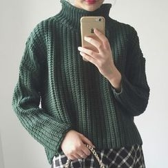 Frontline - Mock Neck Chunky Sweater