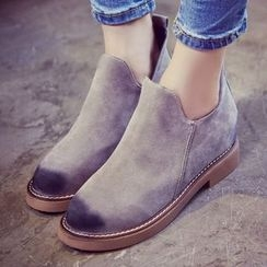 QQ Trend - Hidden Wedge Ankle Boots