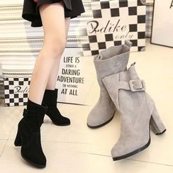 Zandy Shoes - Buckled Short Boots