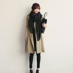 NANING9 - Double-Breasted Trench Coat