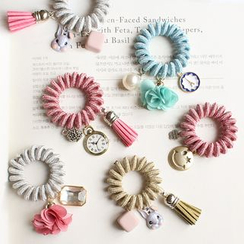Hush Hush - Coil Hair Tie with Charms