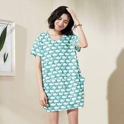 Sam's Tree - Short-Sleeve Printed T-Shirt Dress