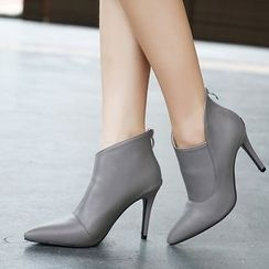 Monde - Point Heel Ankle Boots