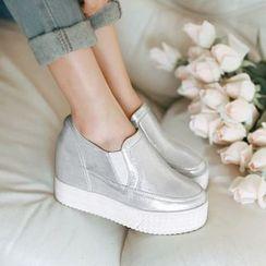 幸福鞋坊 - 內增高跟輕便鞋
