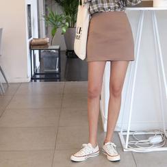 Envy Look - Band-Waist Mini Skirt