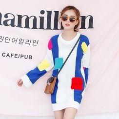 Kofushi - Color Block Knit Tunic