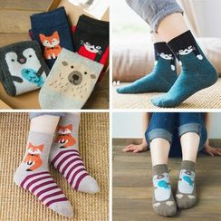 Knit a Bit - Animal Print Socks Set