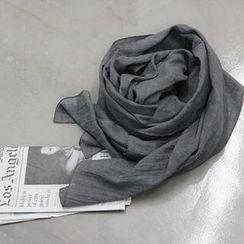 NANING9 - 棉質素面圍巾