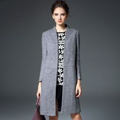 Blue Sky Butterfly - Long Wool Blend Coat