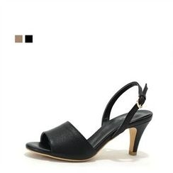 MODELSIS - Genuine Leather Heel Sandals