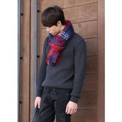 MODSLOOK - Fringed Check Scarf