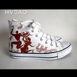 "HVBAO - ""Dance in Ancient Times"" High-Top Canvas Sneakers"