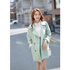 Bongjashop - Double-Breasted Trench Coat