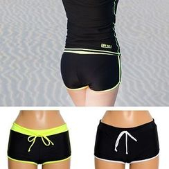 Tamtam Beach - Contrast-Trim Beach Shorts