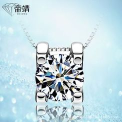 DIJING - Rhinestone Sterling Silver Necklace