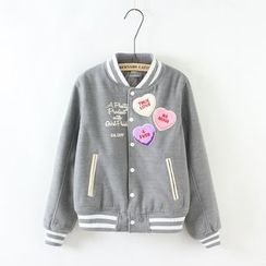 Angel Love - Embroidered Baseball Jacket