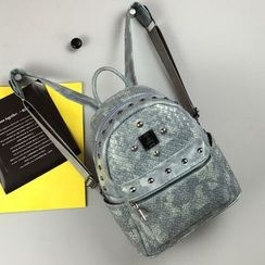 Hase Babe - Studded Faux Leather Backpack