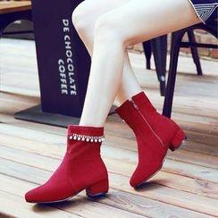 傾城 - 綴飾短靴