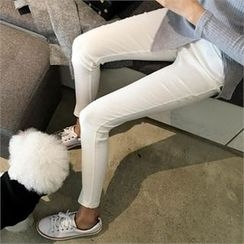 QNIGIRLS - Band-Waist Skinny Pants