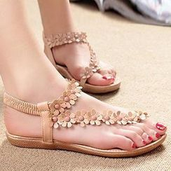 HOONA - Loop-Toe Rosette Sandals