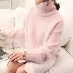 NANING9 - Turtleneck Knit Sweater