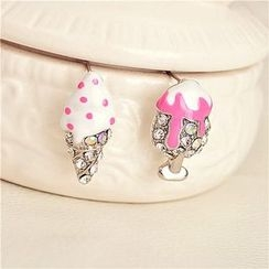 Best Jewellery - Rhinestone Ice Cream Non-Matching Earrings