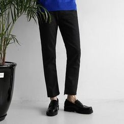 Seoul Homme - Fray-Hem Straight-Cut Pants
