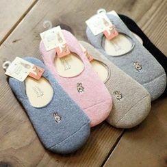 Socka - Rabbit-Embroidered No-Show Socks