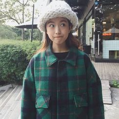 Windflower - Plaid Buttoned Coat