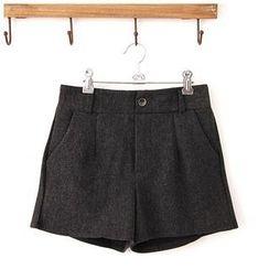 Maymaylu Dreams - Pocketed Woolen Shorts