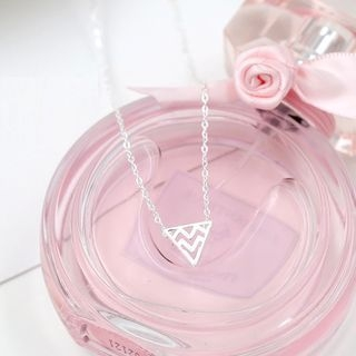 Love Generation - Geometric Triangle Tag Short Necklace