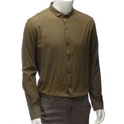 YesStyle M - Long-Sleeve Plain Shirt