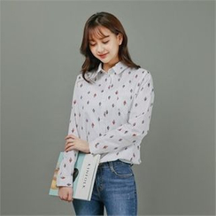 Styleberry - Patterned Stripe Shirt