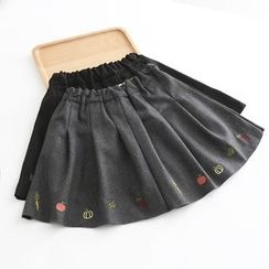 Piko - Embroidered A-Line Skirt