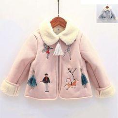 Rakkaus - Kids Fleece-Lined Embroidered Zip Jacket