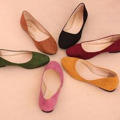 IYATO - 绒面平跟鞋
