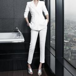 Eleganza - Set: Double-Breasted Blazer + Dress Pants
