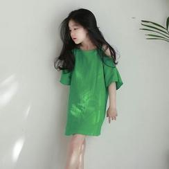 Cuckoo - 兒童露肩短袖連衣裙