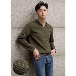 GERIO - Open-Placket Top