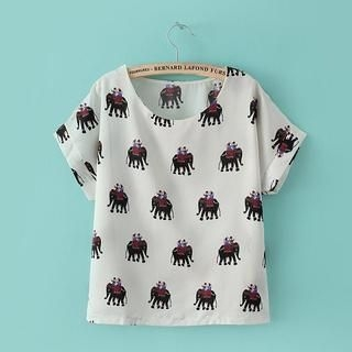 LULUS - Short-Sleeve Printed T-Shirt
