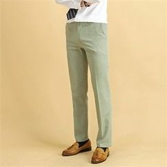 THE COVER - Flat-Front Dress Pants