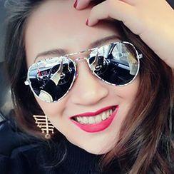 Sunny Eyewear - Mirrored Aviator Sunglasses